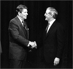 Ronald Reagan and Walter Mondale