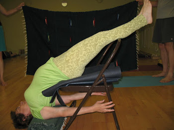 Sarvangasana-Shoulder Stand on a Chair