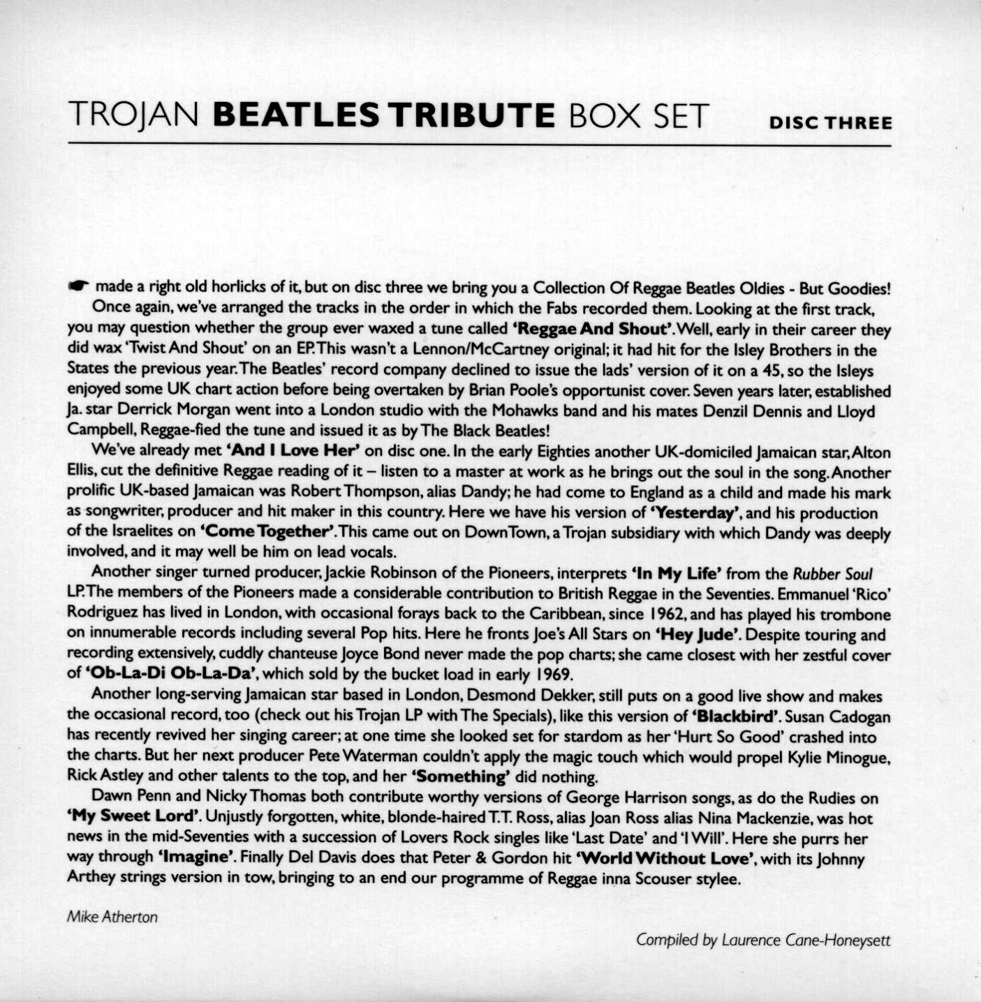 VA - Trojan Beatles Tribute