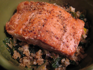salmon bibimbap