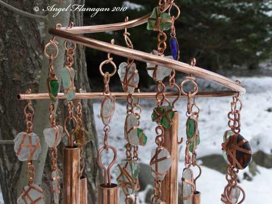 Mermaids Memories Beach Glass U0026 Copper Windchimes