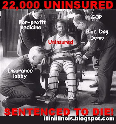 22,000 uninsured sentenced to die! | illinillinois.blogspot.com