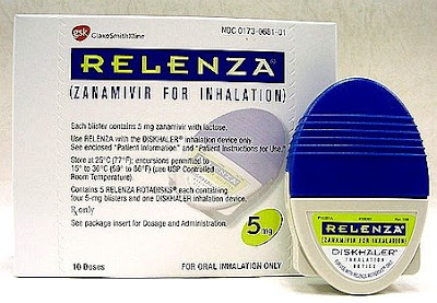 Relenza anti-flu inhalant