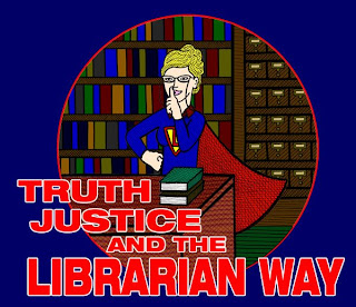 Graphic Image of Super-Librarian