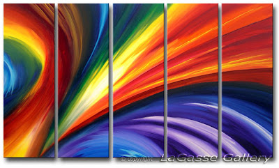 'Northern Lights' - Abstract Art by AJ LaGasse