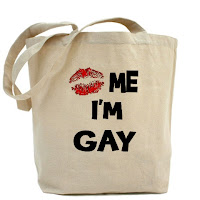 kiss me i'm gay, gay canvas bag