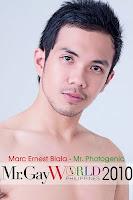 mr. gay world philippines 2010, mr. photogenic, marc ernest biala