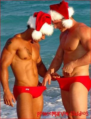 gay sexy christmas peeing in underwear penis