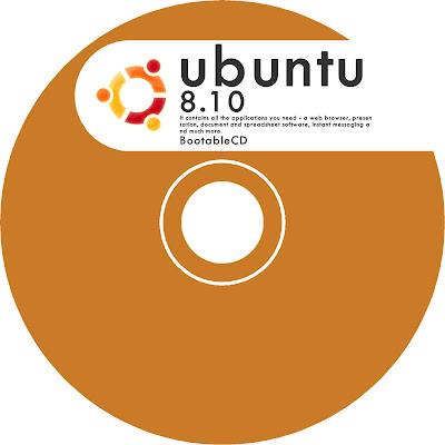 ubuntu cd lebel レーベル印刷 オレンジ