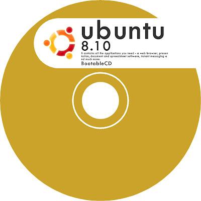 ubuntu cd lebel レーベル印刷 黄色