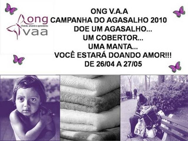 Meu Cantinho de Sonhar: ONG V.A.A. Campanha do Agasalho 2010