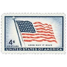#1094 - 1957 4c Old Glory, 48 stars Postage Stamp Numbered Plate Block (4)