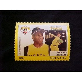 Roberto Clemente Pittsburgh Pirates Major League Baseball in Stamps - Grenada - Issued 1988