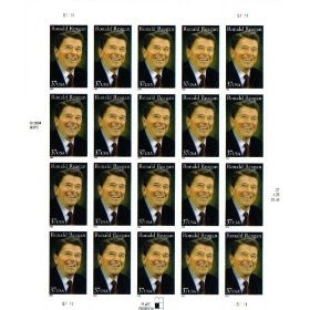 2005 RONALD REAGAN #3897 Pane of 20 x 37 cents US Postage Stamps