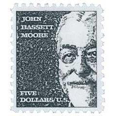 #1295 - 1965 $5 John Bassett Moore Postage Stamps Plate Block