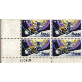 1974 NASA SKYLAB #1529 Plate Block of 4 x 10 cents US Postage Stamps