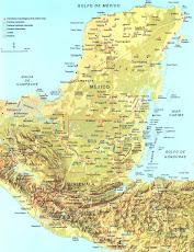 El área ocupada por los mayas