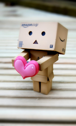 i found this mr.cardboard name Danbo. he just too adorable! i want him!
