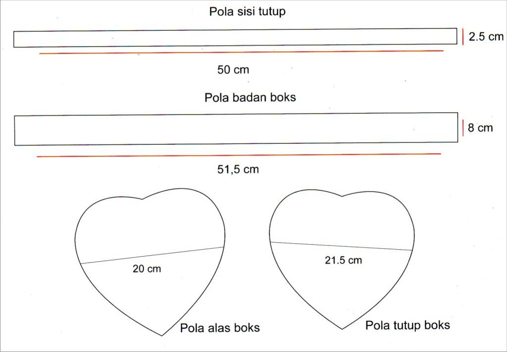Membuat kotak kado bentuk hati