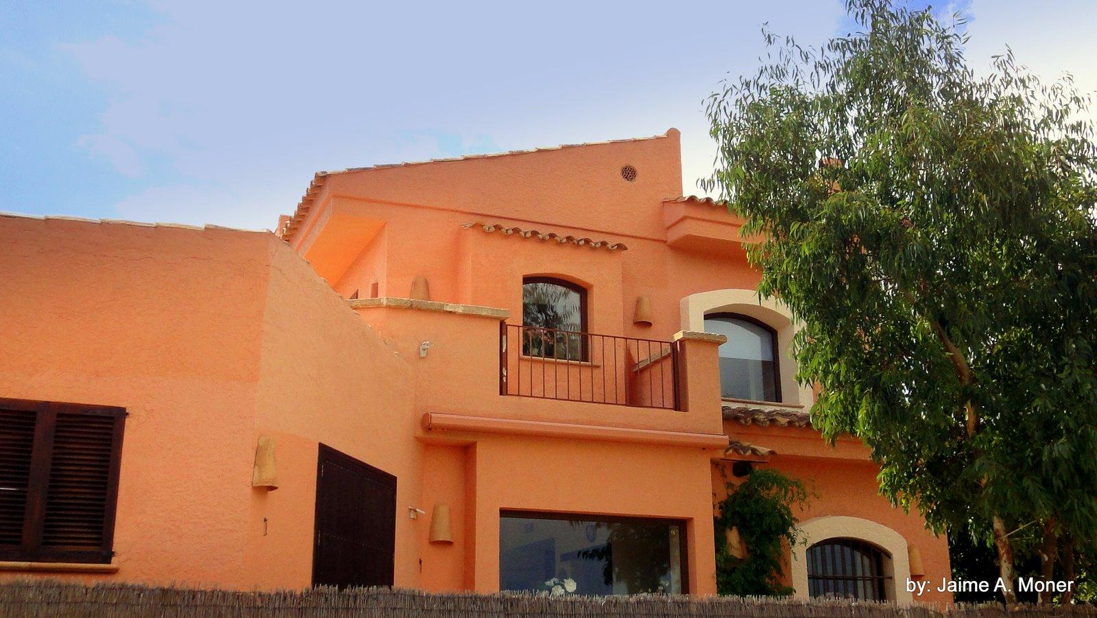 Villa martine de jaime moner detalles exteriores de la casa for Colores exteriores