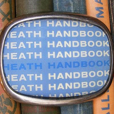 book belt buckle