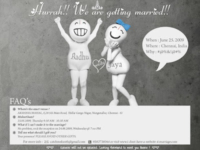 Ashok's Blog: !!..Latest trend of Wedding Invitation..!!