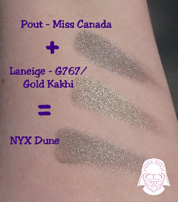 NYX Dune looks like the love child of those 2 shadows