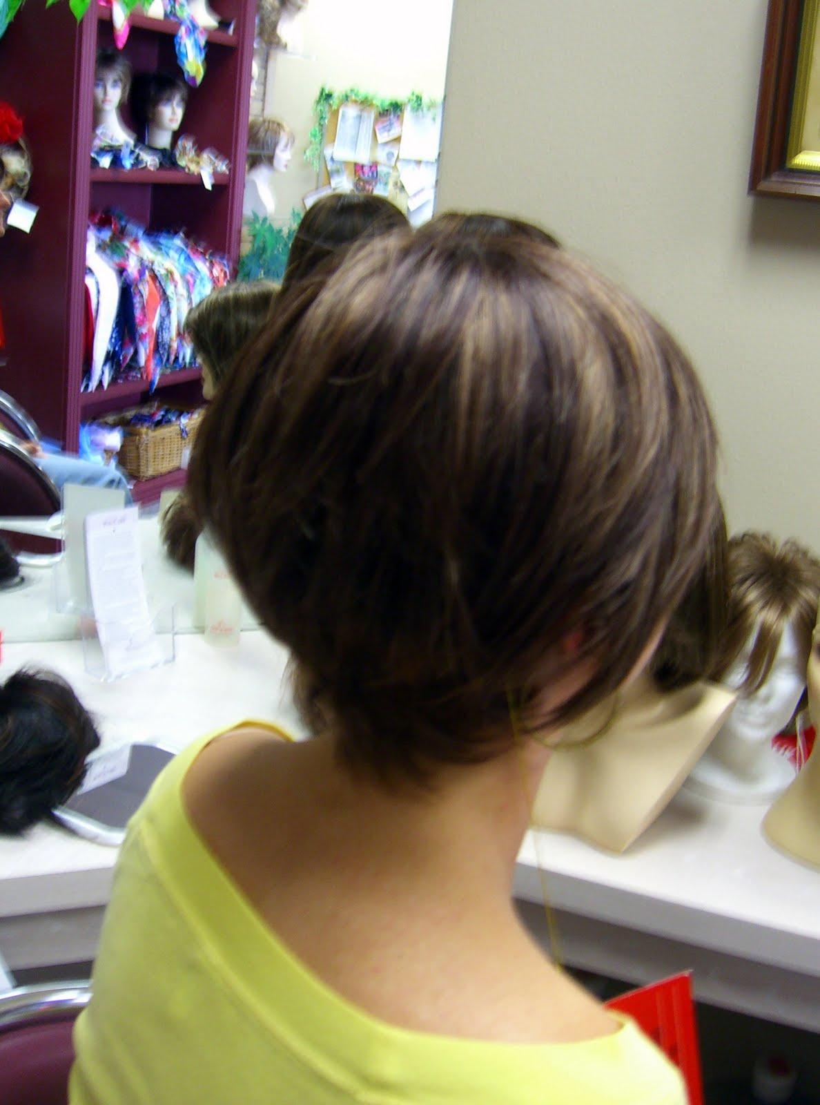 1st photo is a short bob. Too dark & too short for me but a cute cut