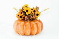pumpkin baby shower centerpiece