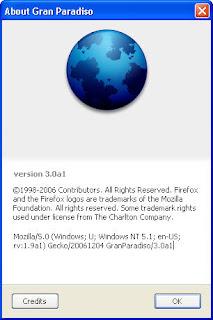 Firefox 3 Alpha 1 - Gran Paradiso
