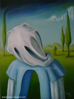 federico-zarco-surreal-paintings-the-ghost-salvador-dali