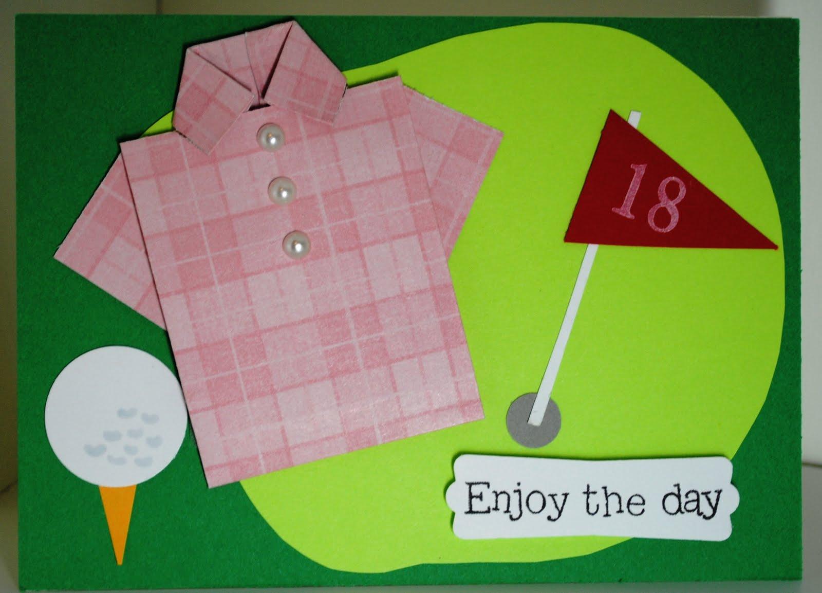 Ladys Golf Birthday Card