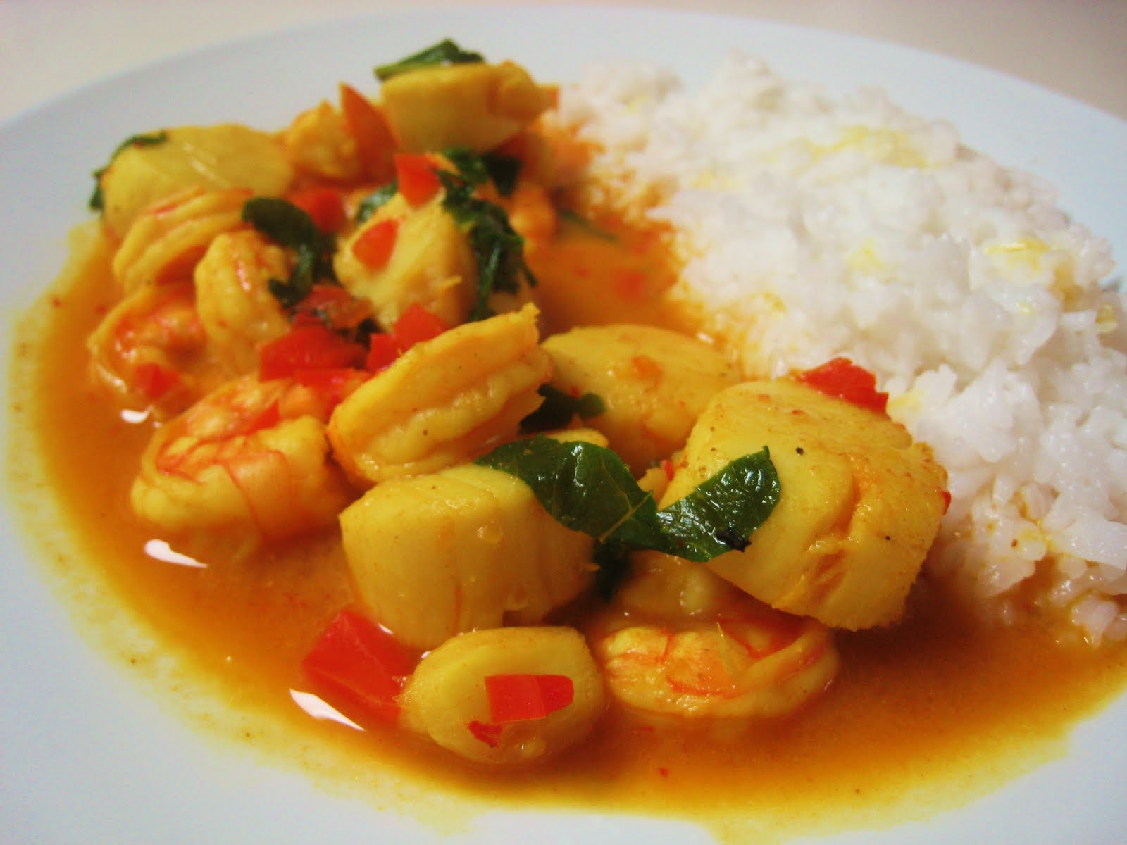 Backup: Red Coconut Curry with Shrimp and Scallops