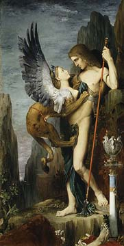 Oedipus & the Sphinx - Gustave Moreau