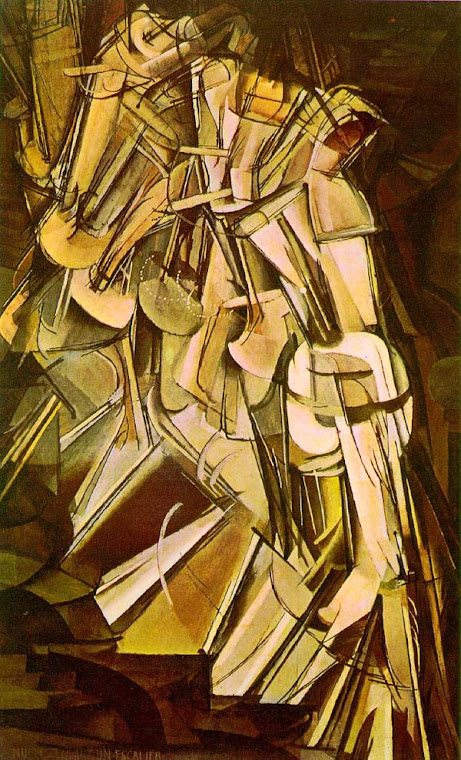 Nude Descending a Staircase - Marcel Duchamp