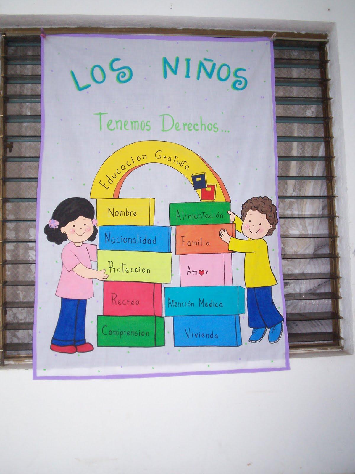cartel sobre los DERECHOS DEL NIÑO@