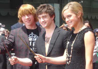 Rupert, Dan, and Emma at Graman's Chinese Theater in Los Angeles