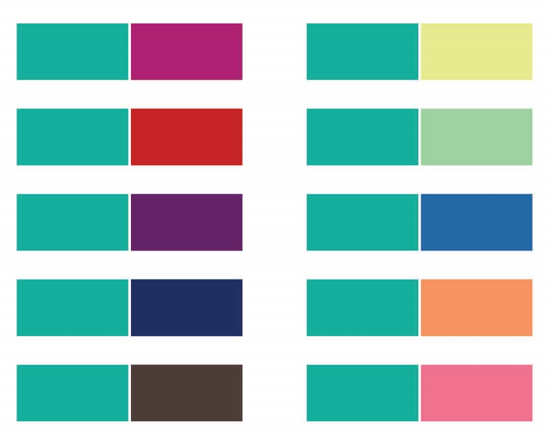 Good Color Combos Brilliant Of Color Combinations That Go with Teal Pictures