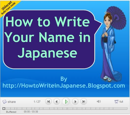 How to write your birthday in kanji