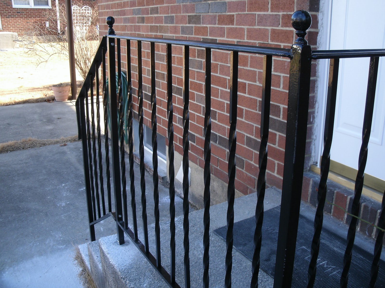 Wrought Iron Stair Railings Design
