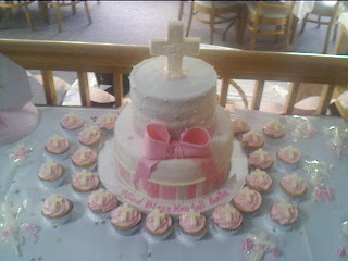 Lick Your Lips Cakes: Baptism Cake & Cupcakes