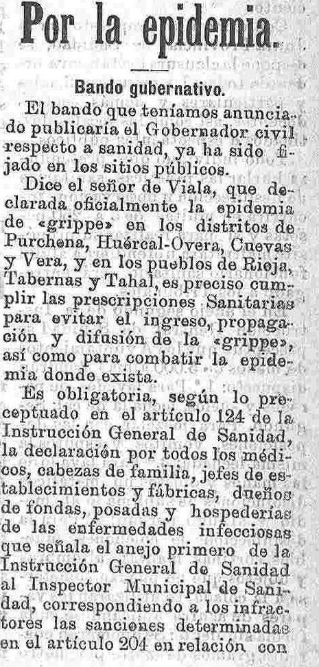 HIGH HISTORY OF MEDICINE: MUERTE EN EL ALMANZORA. Una epidemia de ...
