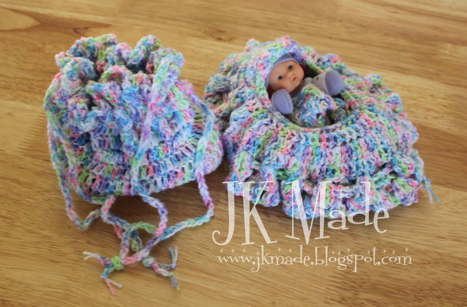 Crochet Baby Purse : Crochet baby bassinet/purse JK Made