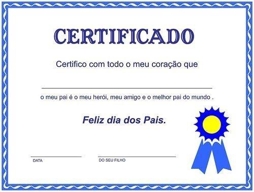 Pin Certificado Para O Dia Dos Pais on Pinterest