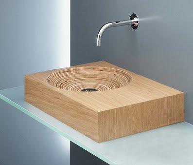 flex inredning handfat av tr. Black Bedroom Furniture Sets. Home Design Ideas