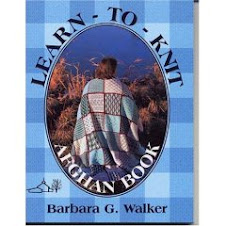 LEARN TO KNIT AFGHAN BOOK by Barbara Walker