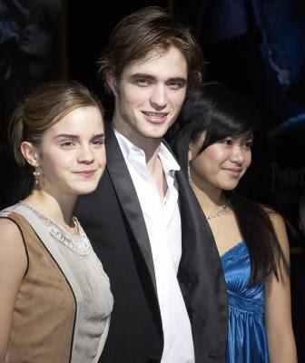 Robert Pattinson ( Cedric Diggory), Emma Watson(Hermiony Granger),