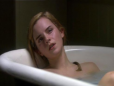 emma watson in the shower
