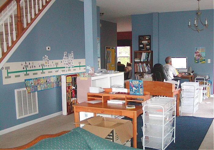 Nancy and bill homeschool classroom tuesday june 29 2010 for Homeschool dining room ideas
