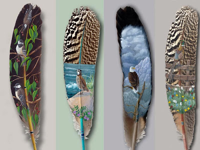 Birds Feather Paintings Pictures